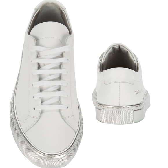 buy popular 9ba70 3c145 Common Projects Shoes - Woman by common projects white with silver sole